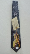 Gents Necktie with Cello and Music