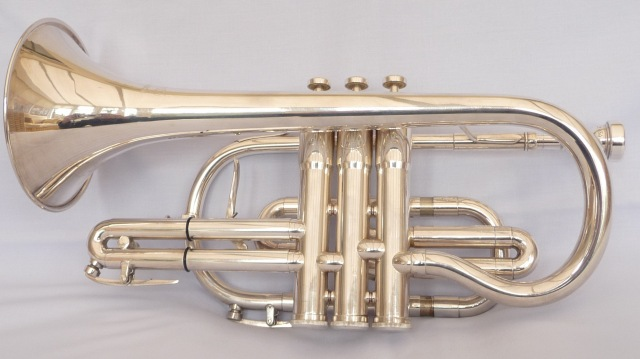 b h besson 723 silver plated cornet second hand brass instruments available brass dave. Black Bedroom Furniture Sets. Home Design Ideas