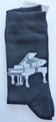 Socks with Grand Piano Design. Medium.