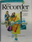 Play Recorder Today by Hal Leonard with C.D